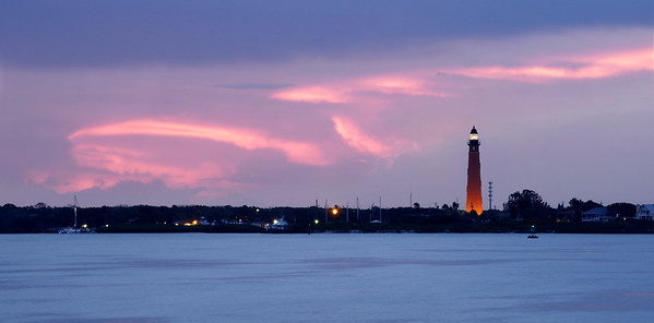 A pink ribbon at Ponce Inlet.