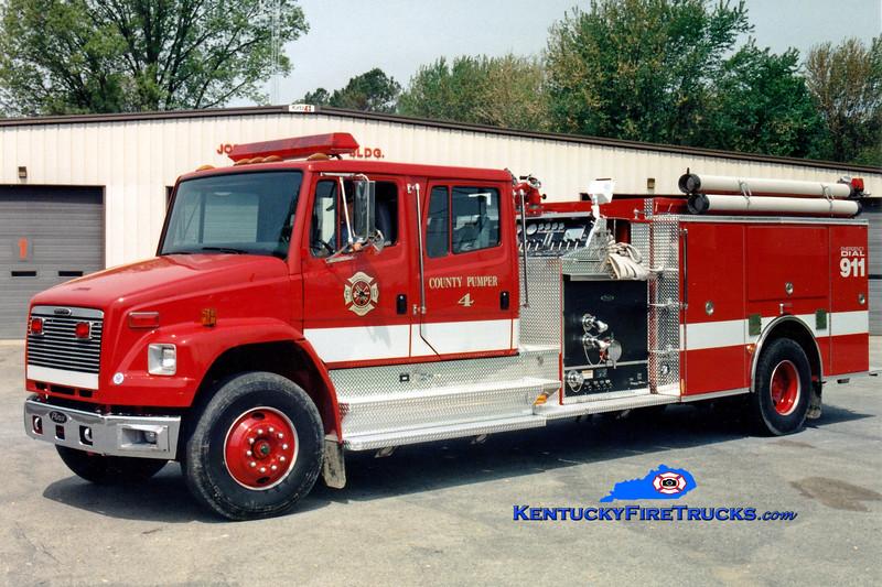 <center> Monticello-Wayne County Pumper 4  <br> 1997 Freightliner FL80/Pierce 1250/1000 <br> Greg Stapleton photo </center>