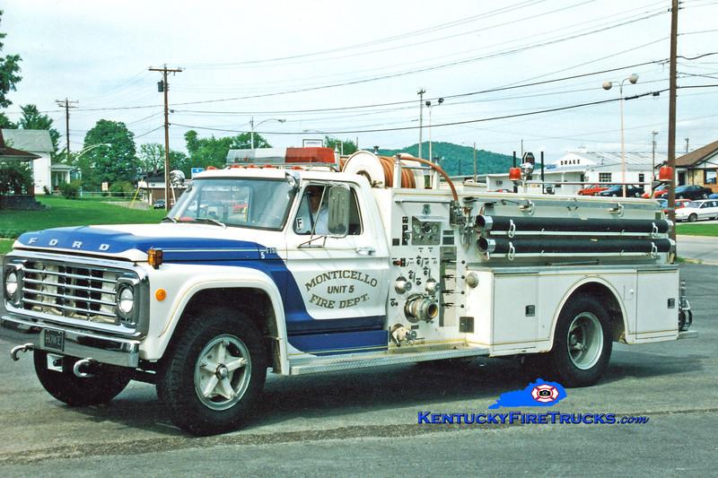 <center> RETIRED <br> Monticello Engine 5  <br> 1973 Ford F-750/Howe 750/750 <br> Greg Stapleton photo </center>