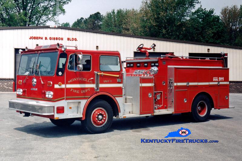 <center> RETIRED <BR> Monticello Engine 11  <br> 1980 Duplex D-250/Grumman-Oren 1000/1000 <br> Greg Stapleton photo </center>