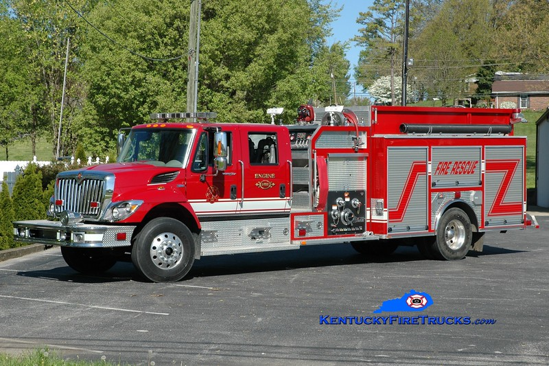 <center> Monticello-Wayne County Pumper 5  <br> x-Dorchester County, SC <br> 2007 International 7400/Ferrara 1250/1000 <br> Greg Stapleton photo </center>