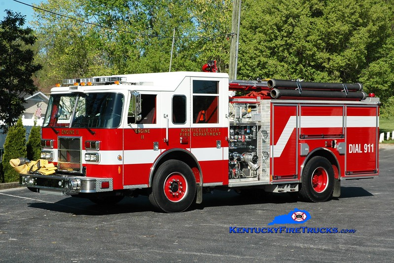 <center> Monticello Engine 11  <br> 2009 Pierce Contender 1250/750 <br> Greg Stapleton photo </center>
