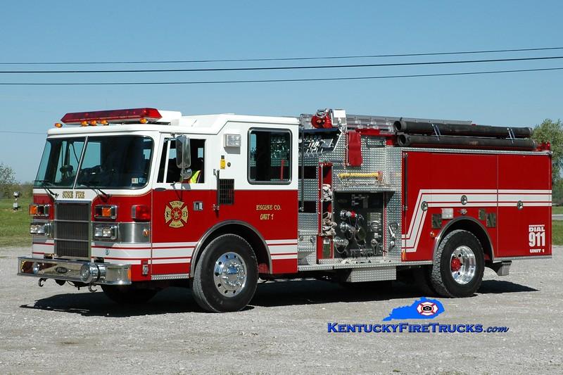 <center> Susie  Engine 1 <br> x-Dorseyville, PA <br> 1994 Pierce Dash 1000/750 <br> Greg Stapleton photo </center>
