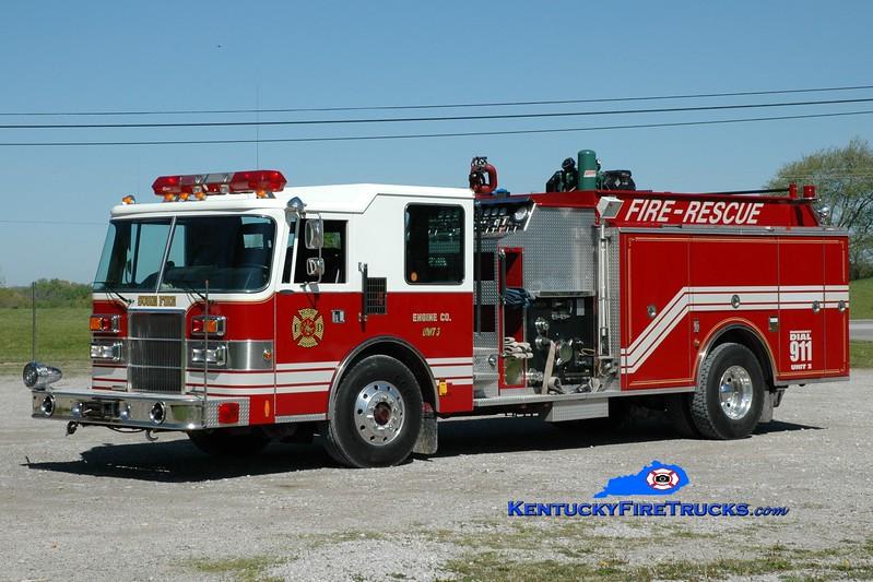 <center> Susie  Engine 3 <br> x-Gordon Heights, PA <br> 1992 Pierce Dash 1250/750 <br> Greg Stapleton photo </center>