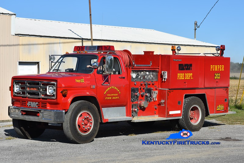 Wheatcroft Engine 202 <br /> x-Niagara and Smith Mills, KY<br /> 1982 GMC 7000/FMC 1000/1000<br /> Greg Stapleton photo
