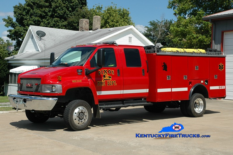 <center> Dixon  Rescue 105 <br> 2007 GMC C4500 4x4/1990 Stahl-Stewarts  <br> Greg Stapleton photo </center>
