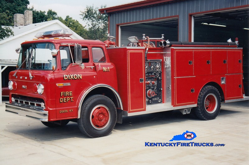 <center> Dixon  Engine 1 <br> 1984 Ford C/Darley 1000/750 <br> Greg Stapleton photo </center>