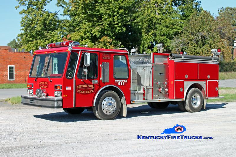 <center> Onton  Engine 1 <br> x-Widewater, VA <br> 1988 E-One Hurricane 1250/750 <br> Kent Parrish photo </center>