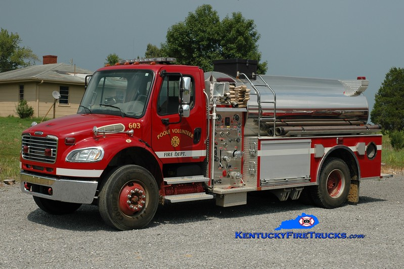 <center> Poole Tanker 603 <br> 2005 Freightliner M2-106/McGinley 500/2000 <br> Greg Stapleton photo </center>