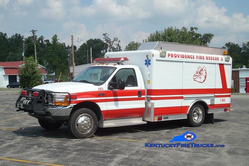 <center> Providence Rescue 3 <br> 1999 Ford F-350/Hackney  <br> Greg Stapleton photo </center>