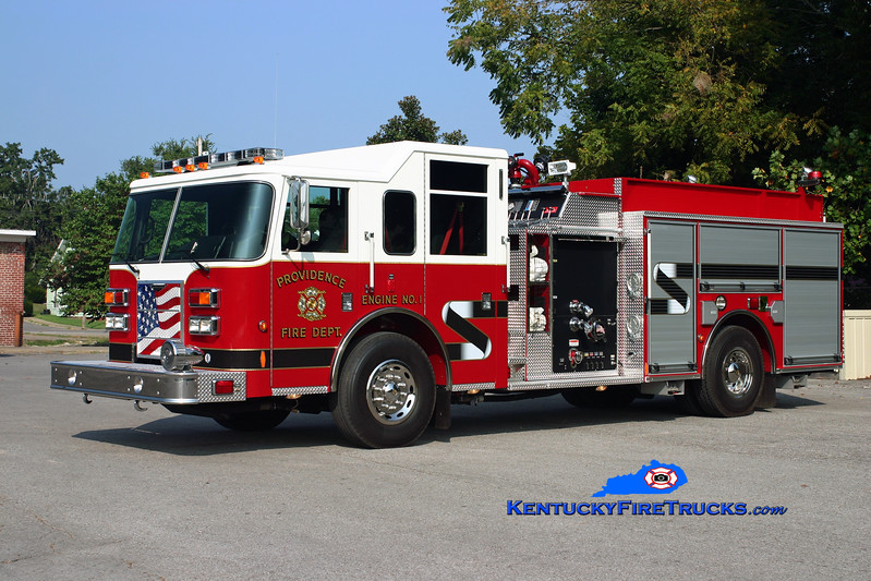 <center> Providence  Engine 1  <br> 2009 Pierce Contender 1250/1000 <br> Kent Parrish photo </center>