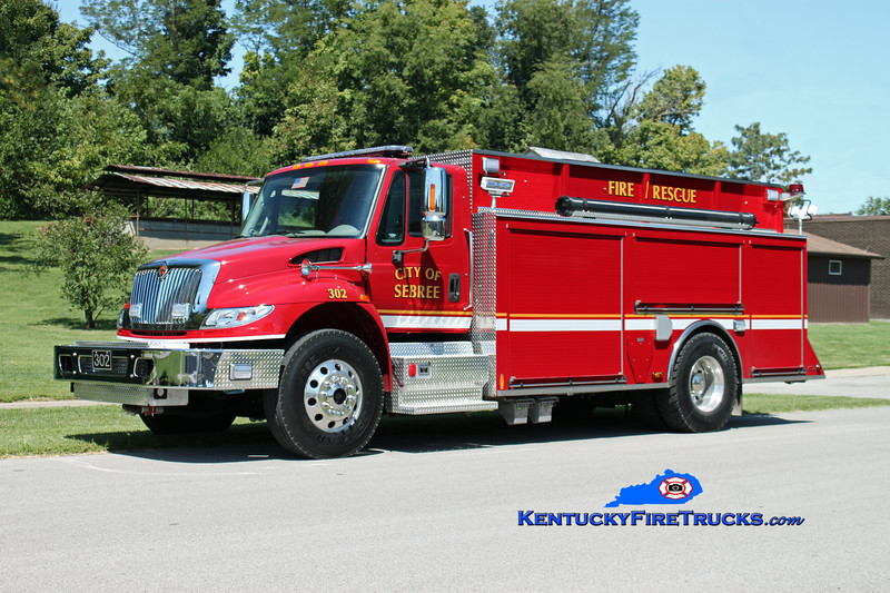 <center> Sebree  Engine 302 <br> 2012 International 4400/US Tanker 1000/2000 <br> Kent Parrish photo </center>