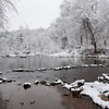 West Point on the Eno, in the snow<br /> best print size - 8x12 or 12x18