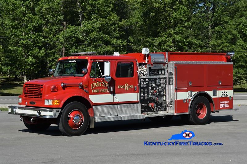 Emlyn Engine 6<br /> x-Frankford Twp, NJ <br /> 1996 International 4900/Pierce 1250/750/30