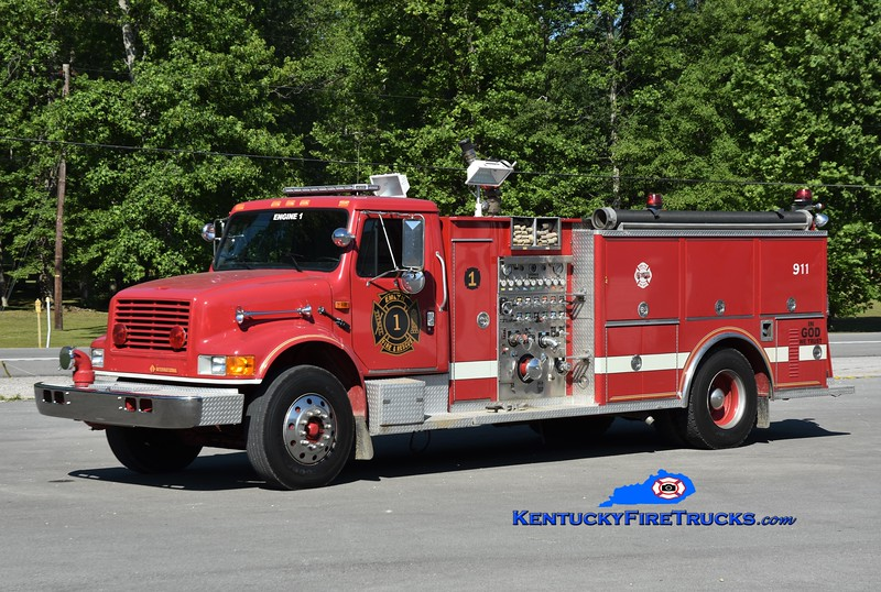 Emlyn Engine 1<br /> x-Oakfield Twp, MI <br /> 1992 International 4900/3D 1250/1000<br /> Greg Stapleton photo