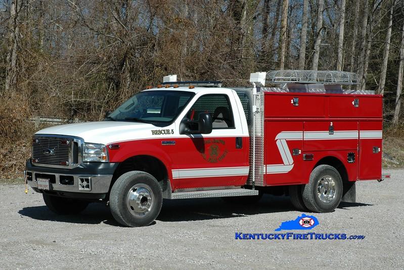<center> RETIRED <br> Oak Grove  Rescue 5 <br> 2006 Ford F-350 4x4/Wynn CAFS <br> Greg Stapleton photo </center>