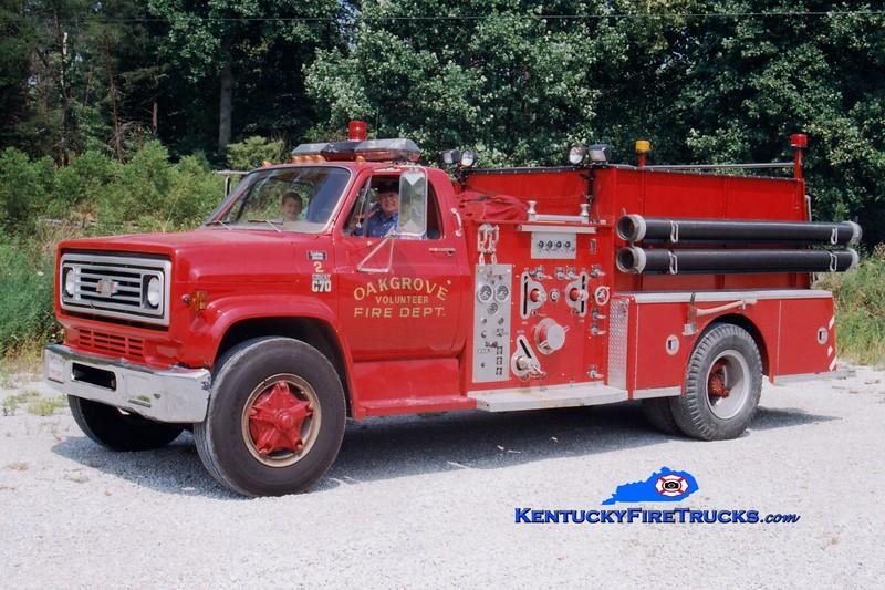 <center> RETIRED <br> Oak Grove  Engine 2 <br> 1979 Chevy/American LaFrance 1000/750 <br> Greg Stapleton photo </center>