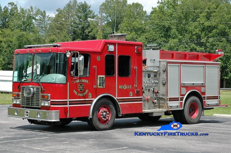 Oak Grove  Rescue 5<br /> x-Columbus, OH<br /> 2001 HME/BME 1500/750<br /> Greg Stapleton photo