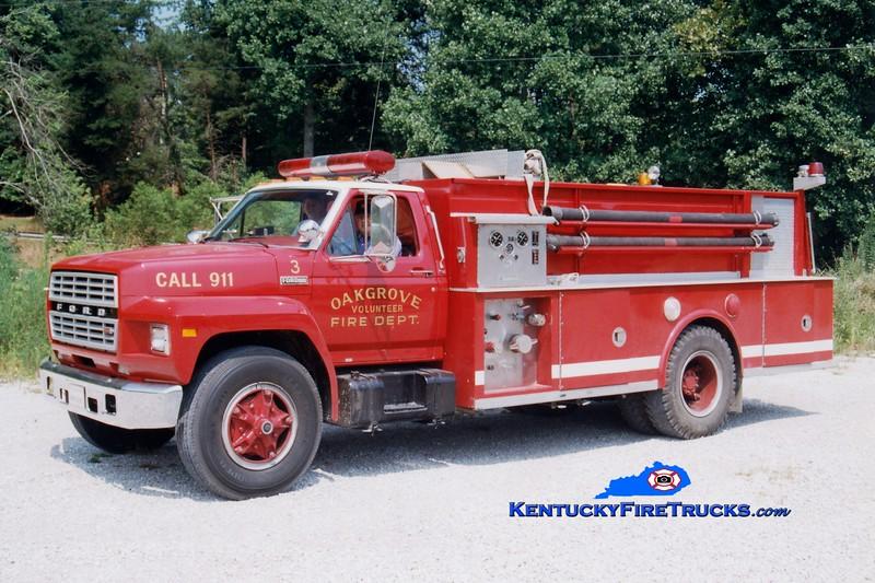 <center> RETIRED <br> Oak Grove  Engine 3 <br> 1983 Ford/Amthor 450/1650 <br> Greg Stapleton photo </center>