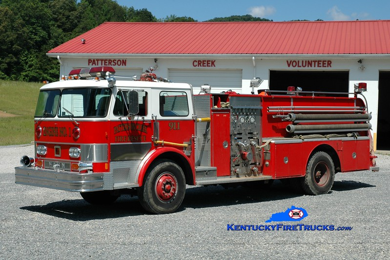 <center> RETIRED <br> Patterson Creek  Engine 1 <br> x-Shiloh, PA <br> 1976 Hahn 1000/1400 <br> Greg Stapleton photo </center>