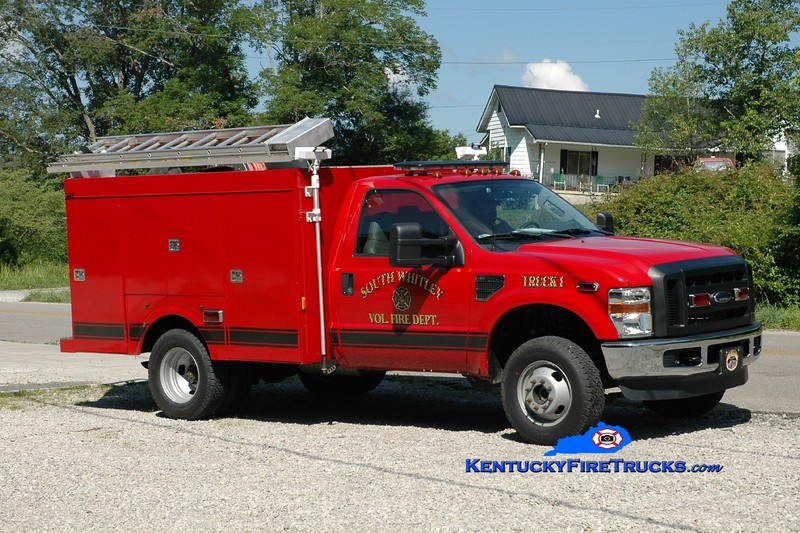 <center> South Whitley  Truck 1 <br> 2008 Ford F-350 4x4/Wynn 250/400 <br> Greg Stapleton photo </center>