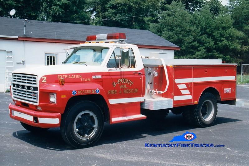 <center> RETIRED <BR> Three Point  Rescue 2 <br> 1979 Ford F/Wynn 250/250 <br> Greg Stapleton photo </center>