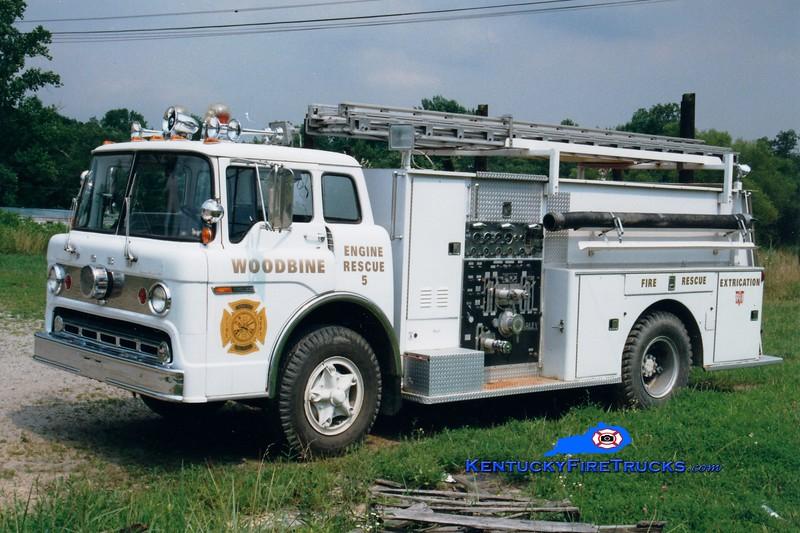 <center> RETIRED <BR> Woodbine  Engine 5 <br> 1972 Ford C/Darley 1000/750 <br> Greg Stapleton photo </center>