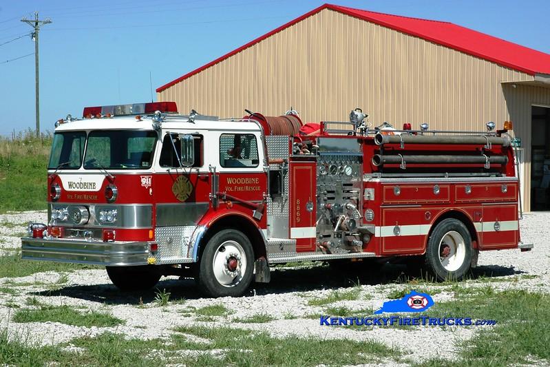 <center> Woodbine  Engine 8869 <br> x-Langhorne, PA; Lakeview, TN <br> 1979 Hahn 1500/1000 <br> Greg Stapleton photo </center>