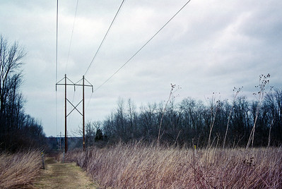 Power lines and a stormy February day  Canon AT-1 with 35mm 3.5 FD lens Fuji Superia 400