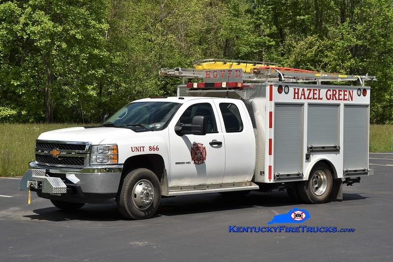 Hazel Green Rescue 866<br /> 2013 Chevy 3500 4x4/Danco 250/300<br /> Greg Stapleton photo