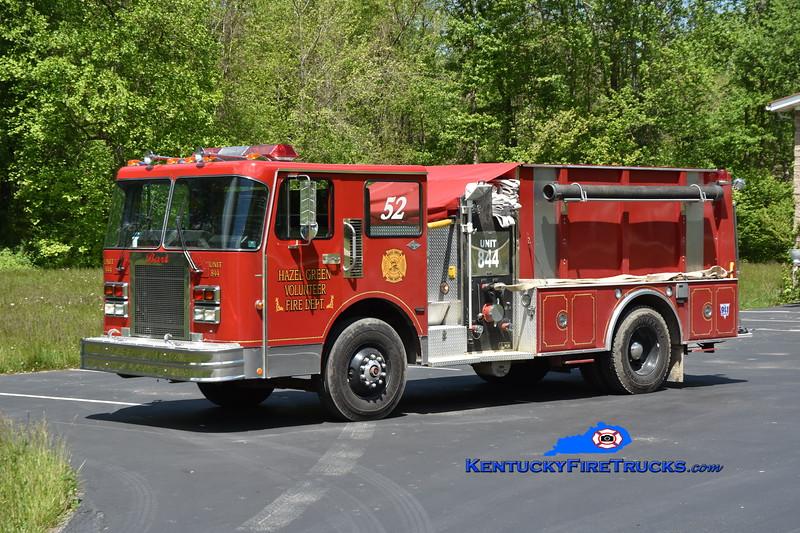 Hazel Green Engine 844<br /> x-Starbrick FC Warren, PA <br /> 1988 Spartan/S&S 1250/1500<br /> Greg Stapleton photo