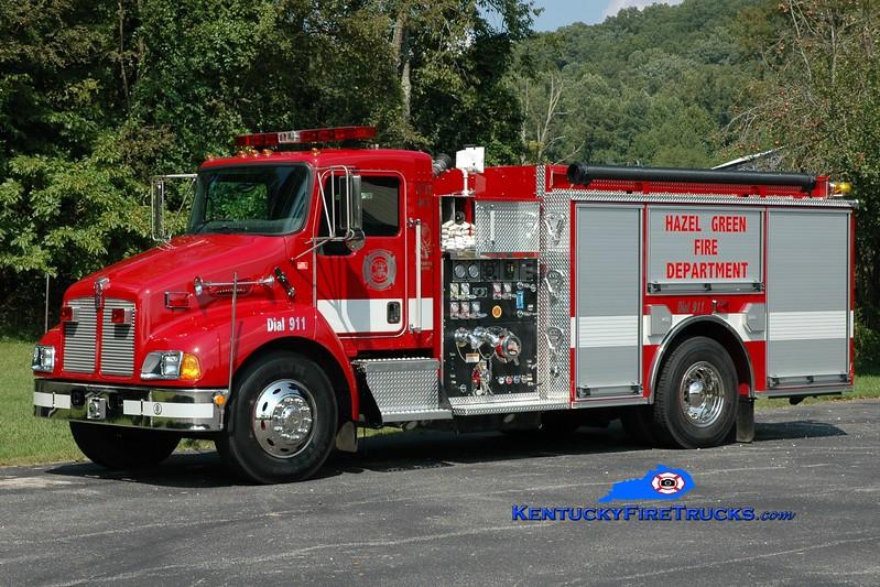 <center> Hazel Green  Engine 845  <br> 2004 Kenworth T-300/Pierce 1250/1000 <br> Greg Stapleton photo </center>