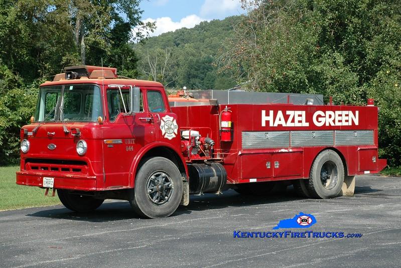 <center> Hazel Green  Tanker 844  <br> 1989 Ford C8000/Danco 250/1800 <br> Greg Stapleton photo </center>