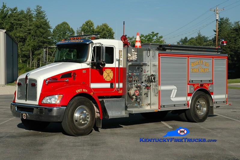 <center> Wolfe County  Engine 624  <br> 2009 Kenworth T-300/Wynn 1500/1000 <br> Greg Stapleton photo </center>