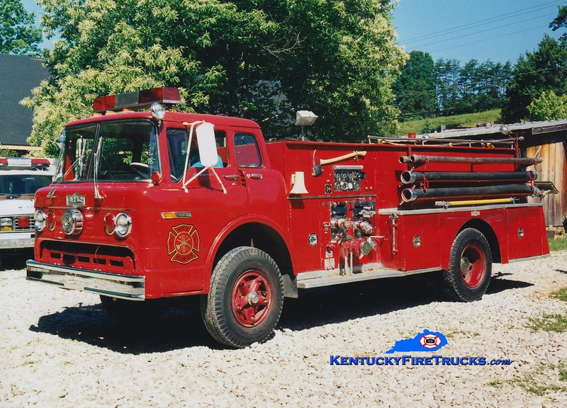 <center> RETIRED <br> Wolfe County  Engine 2  <br> x-Boyle County, KY <br> 1969 Ford C/Pirsch 750/750 <br> Greg Stapleton photo </center>