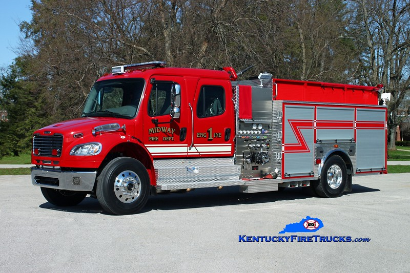 <center> Midway  Engine 1 <br> 2015 Freightliner M2-106/Sutphen 1250/1000 <br> Kent Parrish photo </center>