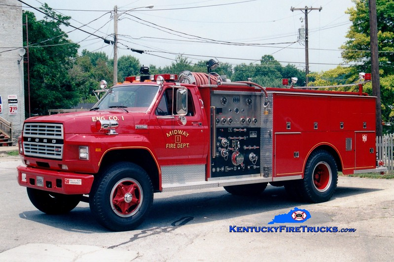 <center> RETIRED <br> Midway  Engine 2 <br> 1982 Ford F-800/Jaco  1000/750<br> Greg Stapleton photo </center>
