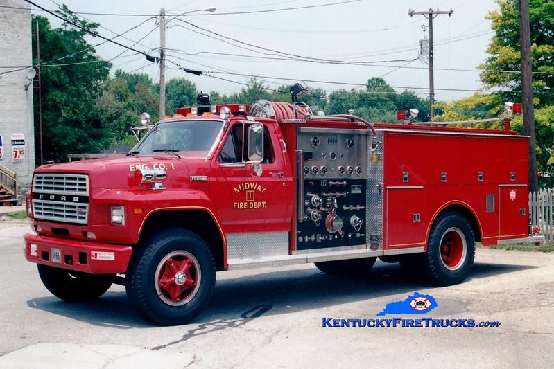 <center> RETIRED <br> Midway  Engine 2 <br> 1982 Ford F-800/Jaco  1000/750<br> Greg Stapleton photo </center>