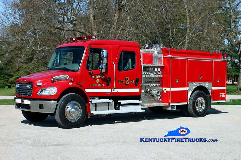 <center> Midway  Engine 2 <br> *Formerly Engine 1 <br> 2004 Freightliner M2-106/E-One 1250/1000 <br> Kent Parrish photo </center>