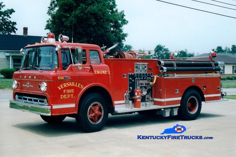 <center> RETIRED <br> Versailles  Engine 2 <br> 1969 Ford C-950/Darley 1000/500 <br> Greg Stapleton photo </center>