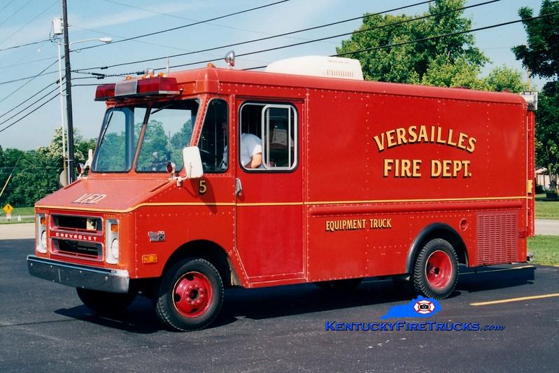 <center> RETIRED <br> Versailles  Equipment 5 <br> 1970 Chevy Step Van <br> Greg Stapleton photo </center>