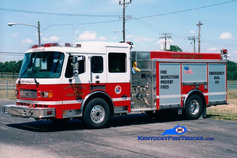 <center> Versailles  Engine 2 <br> 2004 American LaFrance Metropolitan 1500/750 <br> Kent Parrish photo </center>
