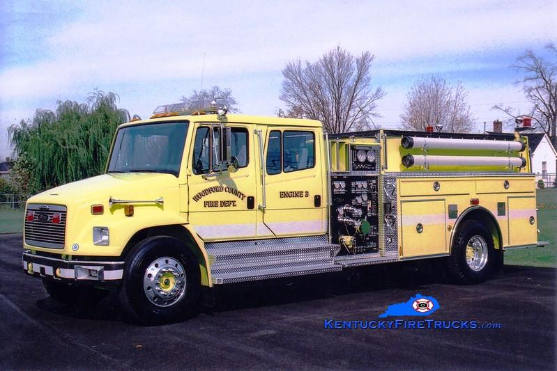 <center> Woodford County  Engine 3 <br> 1996 Freightliner FL80/Pierce 1250/1000 <br> Greg Stapleton photo </center>