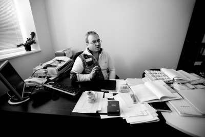 This is my good friend Stephan. Obviously he is working very hard right here and probably telling someone to buy low and sell high or something along those lines. This might have been my most productive day at work so far as the following pictures will show...