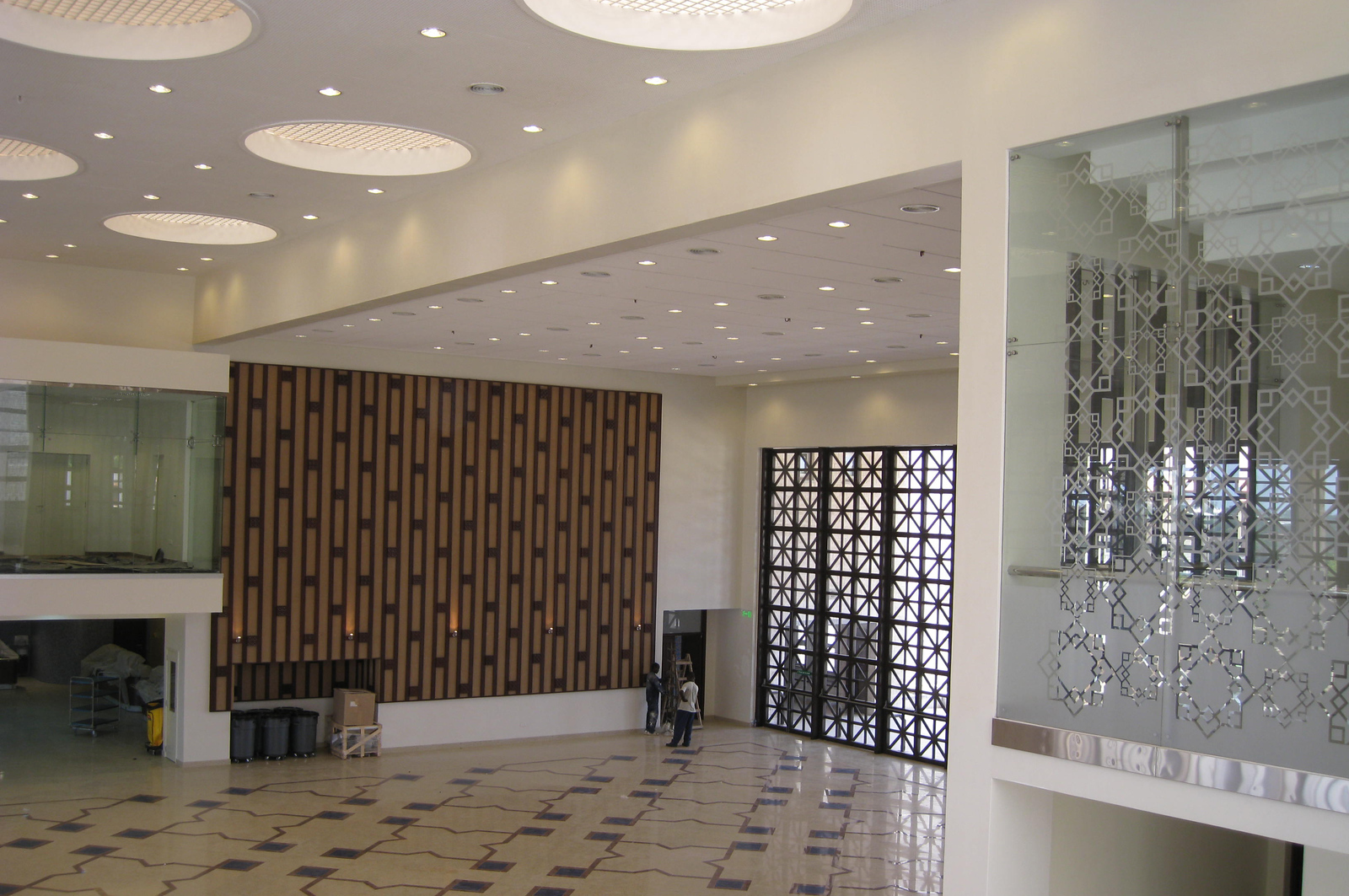 Inside the Commons Building at the Aga Khan Academy, Mombasa