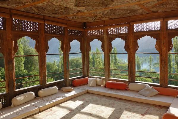 Terrace of the Khaplu Palace.  Baltistan, Pakistan.