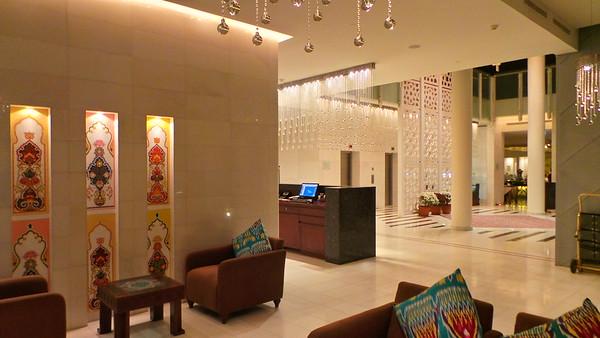 Interior details of the Dushanbe Serena's lobby, Tajikistan