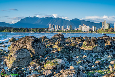 Downtown Vancouver from Kits Beach