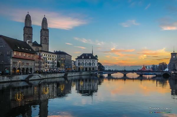 Zurich sunset