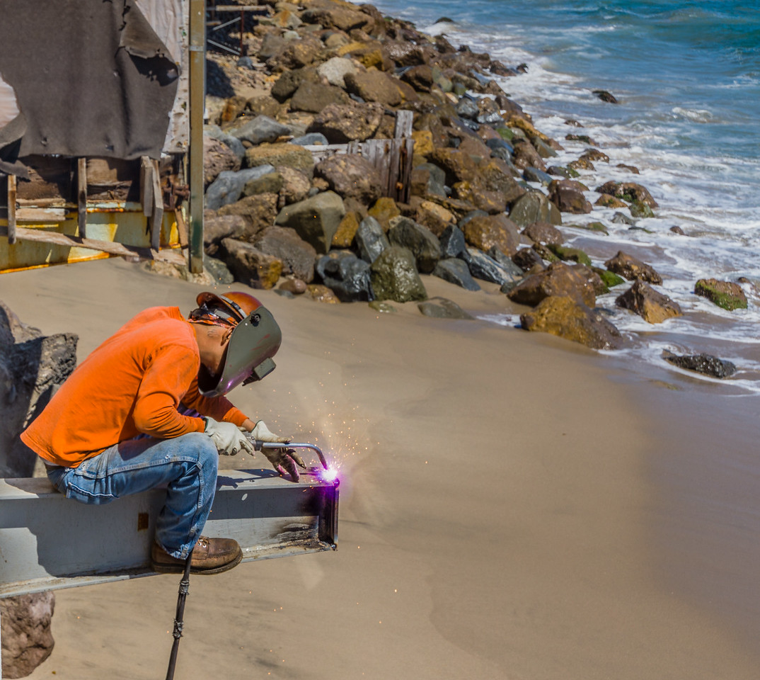 Welding at the Beach
